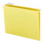 Smead Hanging File Folder with Tab 64069, 1/5-Cut Adjustable Tab, Letter, Yellow
