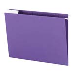 Smead Hanging File Folder with Tab 64072, 1/5-Cut Adjustable Tab, Letter, Purple