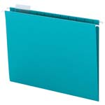 Smead Hanging File Folder with Tab 64074, 1/5-Cut Adjustable Tab, Letter, Teal