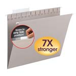 Smead TUFF® Hanging Folder with Easy Slide™ Tab 64092, 1/3-Cut Sliding Tab, Letter, Steel Gray