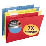 Smead TUFF® Hanging Folder with Easy Slide™ Tab 64140, 1/3-Cut Sliding Tab, Legal, Assorted Colors