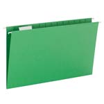 Smead Hanging File Folder with Tab 64161, 1/5-Cut Adjustable Tab, Legal, Green