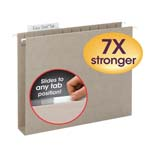 TUFF®  Extra Capacity Hanging Folders (Box Bottom) with Easy Slide™ Tab