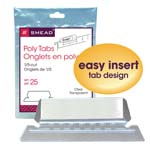 Smead Poly Tab 64600, 1/5 Cut, Clear
