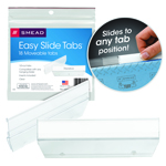 Smead Easy Slide™ Tab 64626, 1/3-Cut, Clear