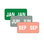 Smead Monthly Color-Coded Labels 67450, Jan.-Dec., Assorted Colors