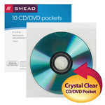 Smead Self-Adhesive Poly CD/DVD Pocket 68145, Security Flap, 5