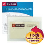 Smead Self-Adhesive Poly Pocket 68155, Business Card Size (4-1/16