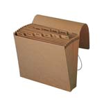 Smead Expanding File 70186, Monthly (Jan.- Dec.), 12 Pockets, Flap and Cord Closure, Letter, Kraft