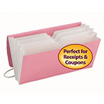 Smead Tag Along® Organizer 70204, Receipt/Coupon/Blank Labels, 5 Pockets, Flap and Cord, 6-1/2