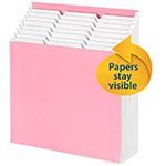 Smead Stadium® File 70209, Alphabetic / Monthly / Daily / Household / Blank Labels, 9 Pockets, Letter, Pink / White