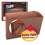 Smead TUFF® Expanding File 70390, Monthly (Jan.-Dec.), 12 Pockets, Flap and Elastic Cord Closure, Legal, Redrope-Printed Stock