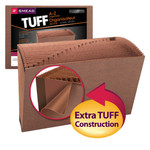 Smead TUFF® Expanding File 70430, Alphabetic (A-Z), 21 Pockets, Legal, Redrope-Printed Stock