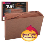Smead TUFF® Expanding File 70490, Monthly (Jan.-Dec.), 12 Pockets, Legal, Redrope-Printed Stock