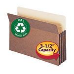 Smead 100% Recycled File Pocket 74205, Straight-Cut Tab, 3-1/2