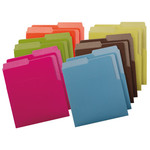SmeadCampus.org® Heavyweight Vertical File Folders 75411, Dual Tabs, Letter, Assorted Colors