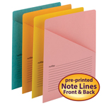 Smead Organized Up® Notes Slash Jacket, Letter Size, Assorted Colors, 12 per Pack