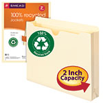 Smead 100% Recycled File Jacket 75610, Reinforced Straight-Cut Tab, 2