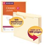Smead File Jacket 75691, Reinforced Tab, 2