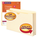 Smead File Jacket 76691, Reinforced Tab, 2