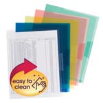 Smead Poly Translucent Project File Jacket 85750, Letter, Assorted Colors