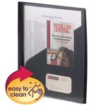 Smead Clear Front Poly Report Cover 86010, 3 Tang-style Fasteners, Up to 25 Sheets, Letter, Black