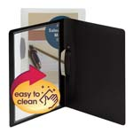 Smead Frame View Poly Report Cover with Swing Clip 86043, Side Fastener, Up to 30 Sheets, Letter (Portrait Orientation), Black/Clear Front