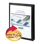 Smead Frame View Poly Two-Pocket Folder 87705, Holds up to 100 Sheets, Letter, Black