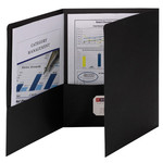 Smead Tri-Fold Pocket Folders 87812, Holds up to 150 Sheets, Letter, Black