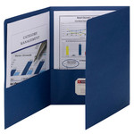 Smead Tri-Fold Pocket Folders 87813, Holds up to 150 Sheets, Letter, Dark Blue