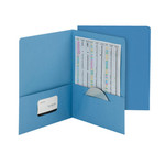 Smead Economy Two-Pocket File Folder 87821, Up to 100 Sheets, Letter, Sky Blue