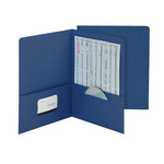 Smead Economy Two-Pocket File Folder 87822, Up to 100 Sheets, Letter, Dark Blue