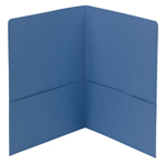 Smead Two-Pocket Heavyweight Folder 87852, Up to 100 Sheets, Letter, Blue