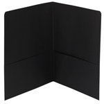 Smead Two-Pocket Heavyweight Folder 87853, Up to 100 Sheets, Letter, Black