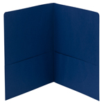 Smead Two-Pocket Heavyweight Folder 87854, Up to 100 Sheets, Letter, Dark Blue