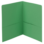Smead Two-Pocket Heavyweight Folder 87855, Up to 100 Sheets, Letter, Green