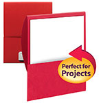 Smead Organized Up® Stackit® File Folder 87916, One Pocket, Textured Stock, Red