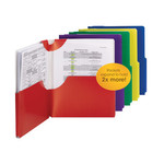 Smead Campus.org Big Pocket Lockit® Two-Pocket File Folder 87925, Up to 250 Sheets, Letter, Assorted Colors