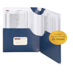 Smead Big Pocket Lockit® Two-Pocket File Folder 87927, Up to 250 Sheets, Letter, Monaco Blue