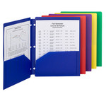 Smead Campus.org Poly Snap-In Two-Pocket File Folder 87928, Up to 50 Sheets, Letter, Assorted Colors