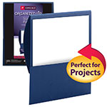 Smead Organized Up™ Stackit® File Folder 87949, One Pocket, Letter, Linen Stock, Dark Blue