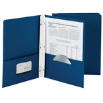 Smead Economy Two-Pocket File Folder 88022, Tang Strip Style Fastener, Fastener-Up to 80 Sheets/Pockets-Up to 100 Sheets, Letter, Dark Blue