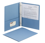 Smead Two-Pocket Heavyweight Folder 88052, Tang Strip Style Fastener, Fastener-Up to 80 Sheets/Pockets-Up to 100 Sheets, Letter, Blue