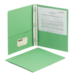 Smead Two-Pocket Heavyweight Folder 88055, Tang Strip Style Fastener, Fastener-Up to 80 Sheets/Pockets-Up to 100 Sheets, Letter, Green