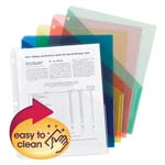 Smead Organized Up® Poly Translucent Slash File Jacket 89505, Three-Hole Punched, Letter, Assorted Colors