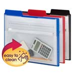 Smead Project Organizer with Zip Pouch, 1/3- Cut Tab, Letter Size, Assorted Colors, 3 per Pack (89614)