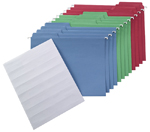 FasTab® Colored Hanging Folder Kit, 1/3-Cut Built-In Tab, Letter Size (92006)