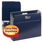 Smead MO® File Case 92020, Holds up to 350 Sheets, Full-Height Sides, Letter, Navy