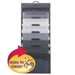 Smead Cascading Wall Organizer 92061, 6 Pockets, Letter, Gray/Neutral