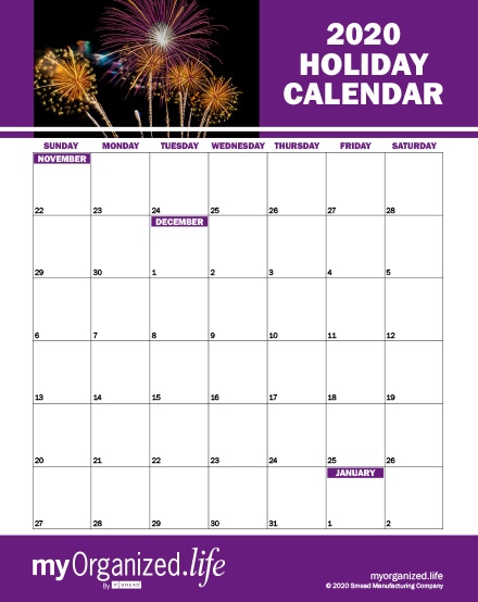 Calendar: Organizing Your Holiday Event Schedule
